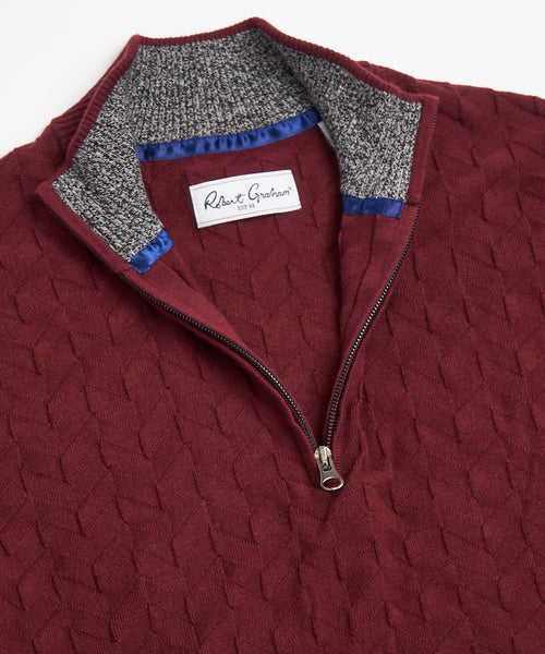 THE VASA SWEATER / BURGUNDY