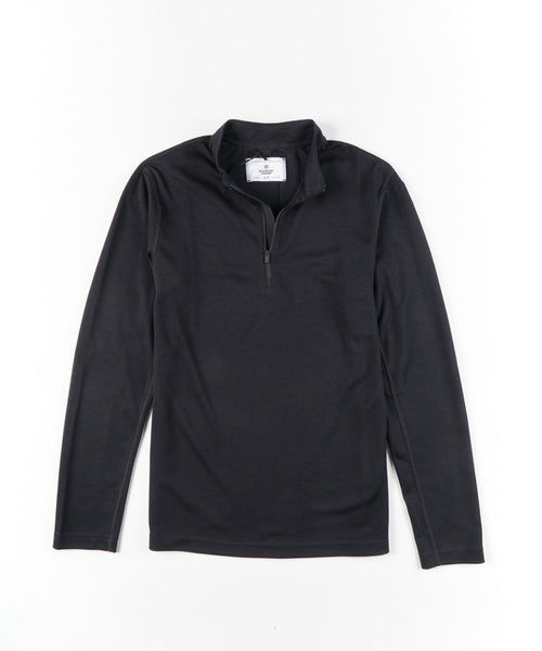 POWER DRY PIQUE TRAIL SHIRT / BLACK