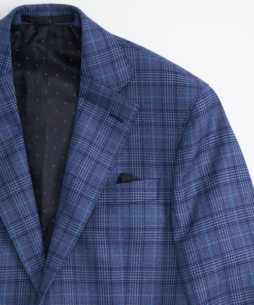 GLEN CHECK SPORT JACKET / BLUE