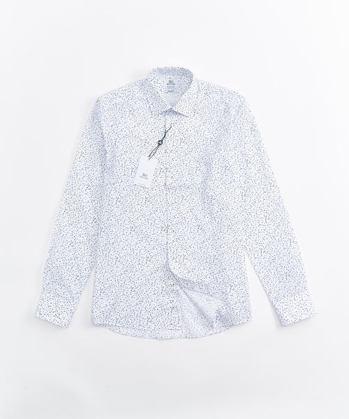 FINE DOT JACQUARD LONG SLEEVE SHIRT / MULTI