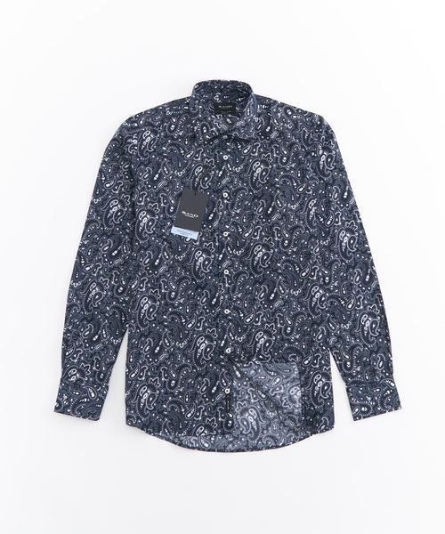 PAISLEY STRETCH LONG SLEEVE SHIRT / MULTI