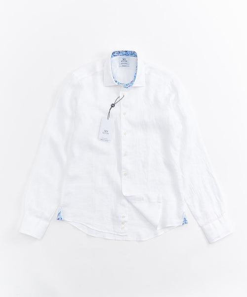 LINEN LONG SLEEVE SHIRT / WHITE