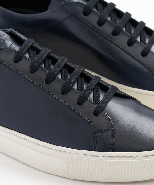 Design Loake 'SPRINT' Navy Leather Sneakers
