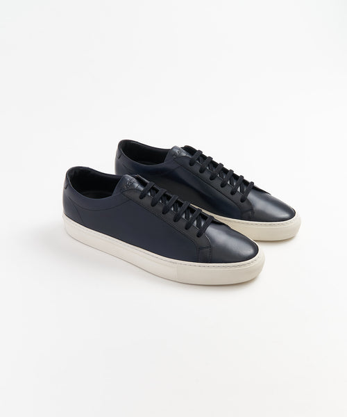 Loake 'SPRINT' Navy Leather Sneakers