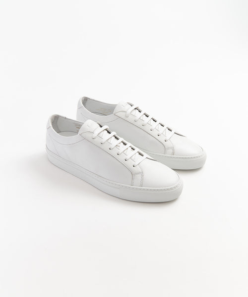 Loake 'SPRINT' White Leather Sneakers