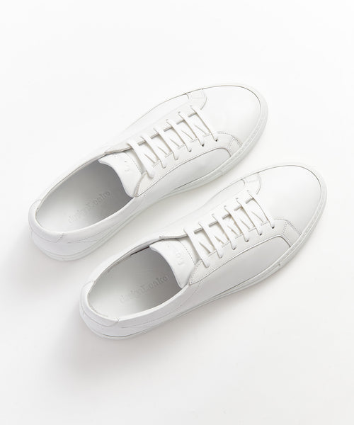 Loake 'SPRINT' White Minimal Leather Sneakers