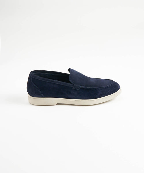 NAVY SUEDE LOAFER SNEAKER
