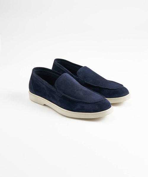 NAVY SUEDE SUMMER WALK LOAFER SNEAKER