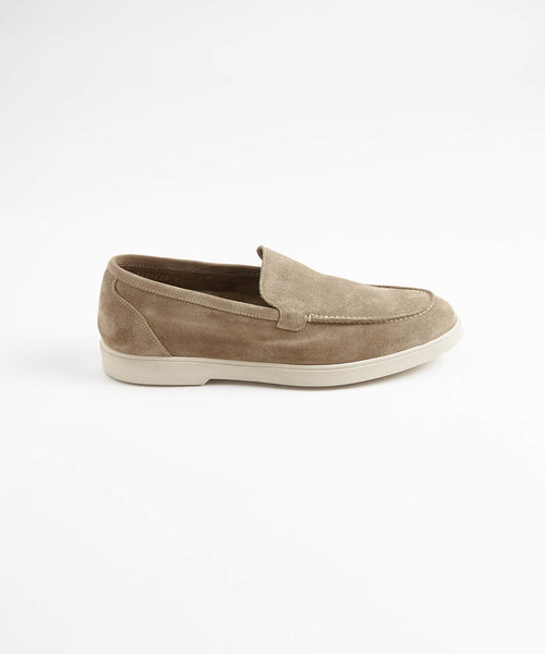 TAN SUEDE SLIP ON SUMMER WALK LOAFER SNEAKER