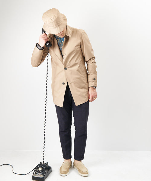 GORETEX RAINCOAT & BUCKET HAT / CAMEL