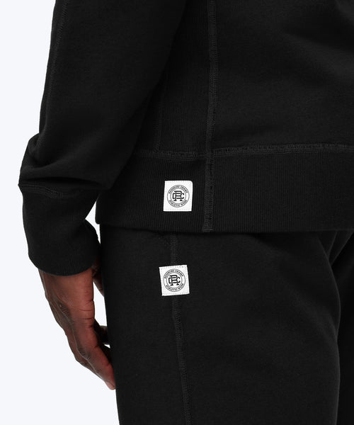 Reigning Champ MIDWEIGHT BLACK TERRY FULL ZIP HOODIE