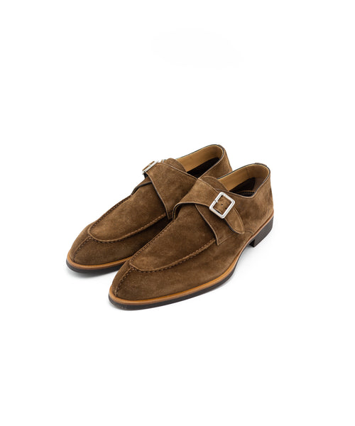 SC542 Velour Farro Unlined Monkstrap