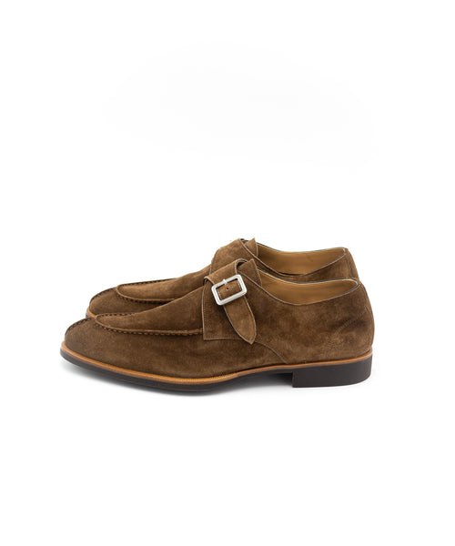 SC542 Velour Farro Unlined Split Toe Monkstrap