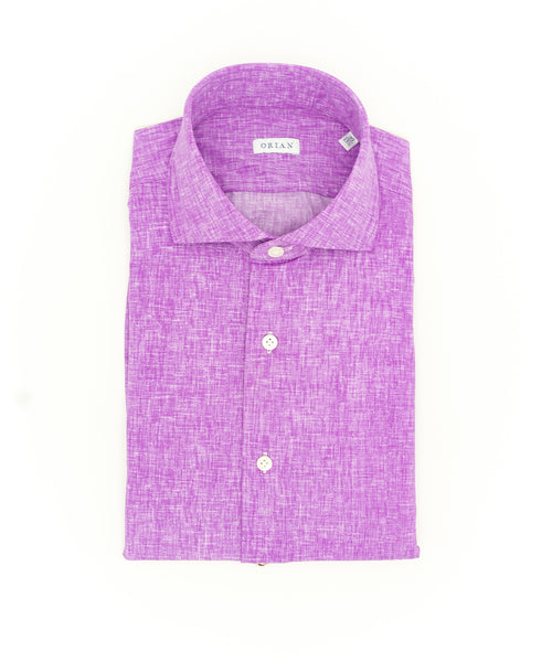 ECO-TECH SOLID SPORT SHIRT / FUSCHIA