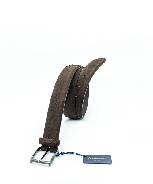 SUEDE BELT / BROWN