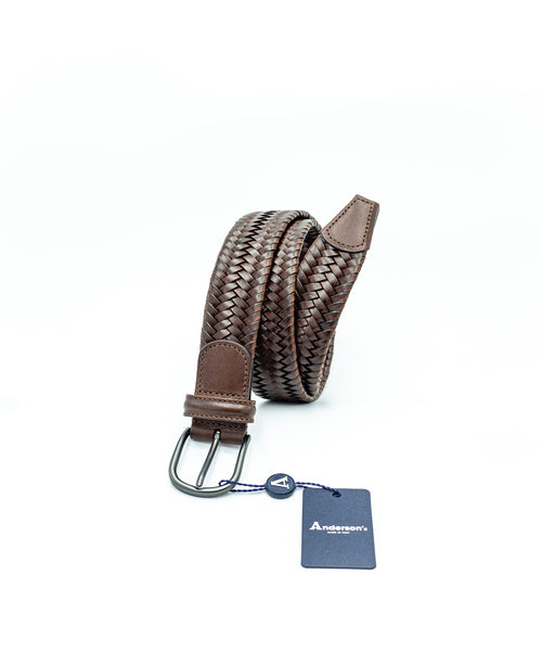 STRETCH LEATHER BELT / COGNAC