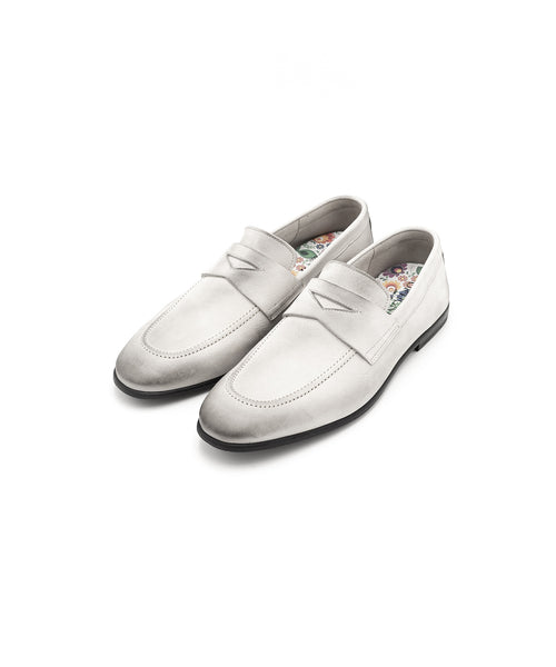 Ortigni Arizona White Loafer 1035910-AVORIO
