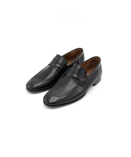 Ortigni Black Penny Loafer 3015912-NERO