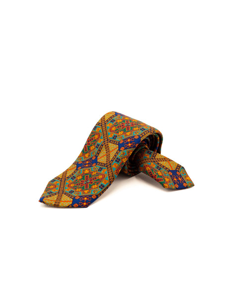 Drake's London CAMEL ARCHIVAL PRINT TIE