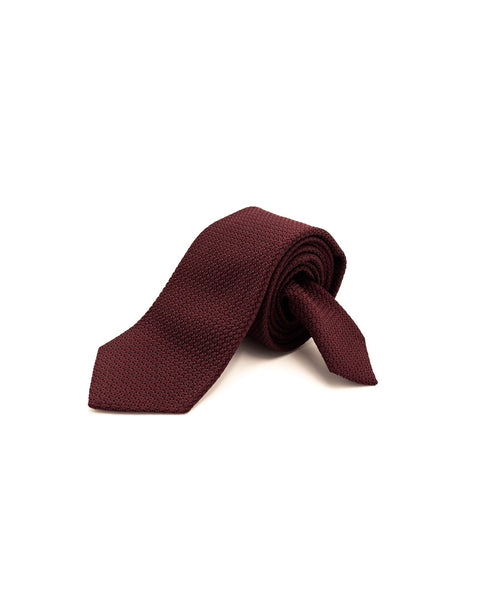 GRENADINE SILK BACK TIE / BURGUNDY