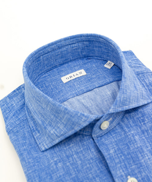 ECO-TECH SOLID SPORT SHIRT / BLUE
