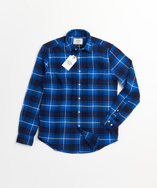 PLAID FLANNEL SHIRT / BLUE