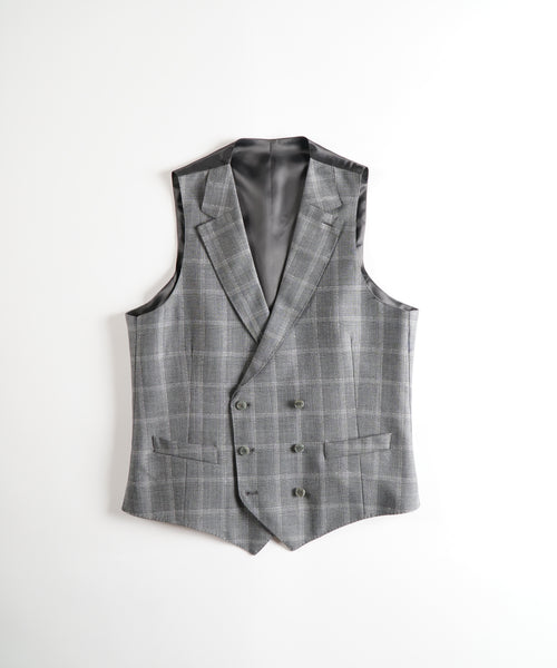 BARBERIS SHADOW CHECK VEST / GREY