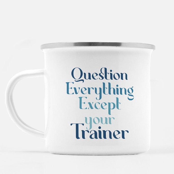 Question Camp Mug - ONE HORSE THREADS