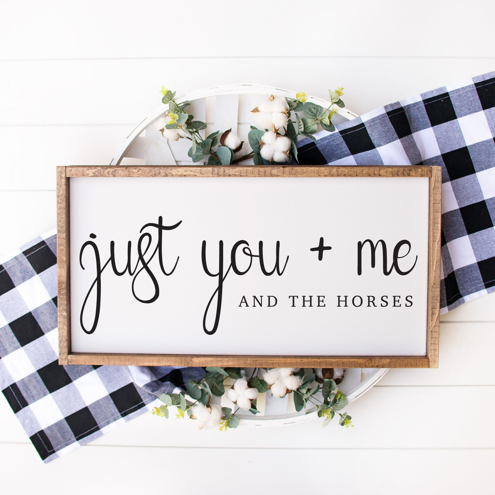 Just You + Me - ONE HORSE THREADS