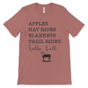 Hello Fall Short Sleeve T-Shirt - ONE HORSE THREADS