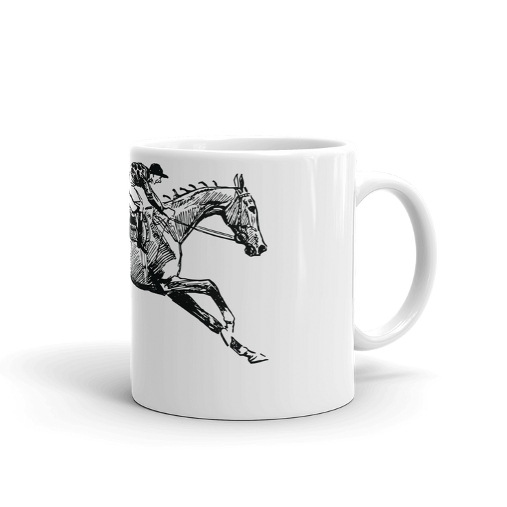 Morning Race Mug - ONE HORSE THREADS