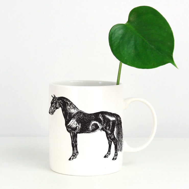 Black Horse Mug - ONE HORSE THREADS