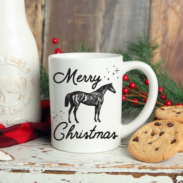 Merry Christmas Mug - ONE HORSE THREADS