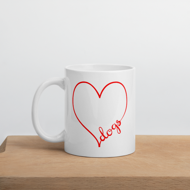 Dog Heart Mug - ONE HORSE THREADS