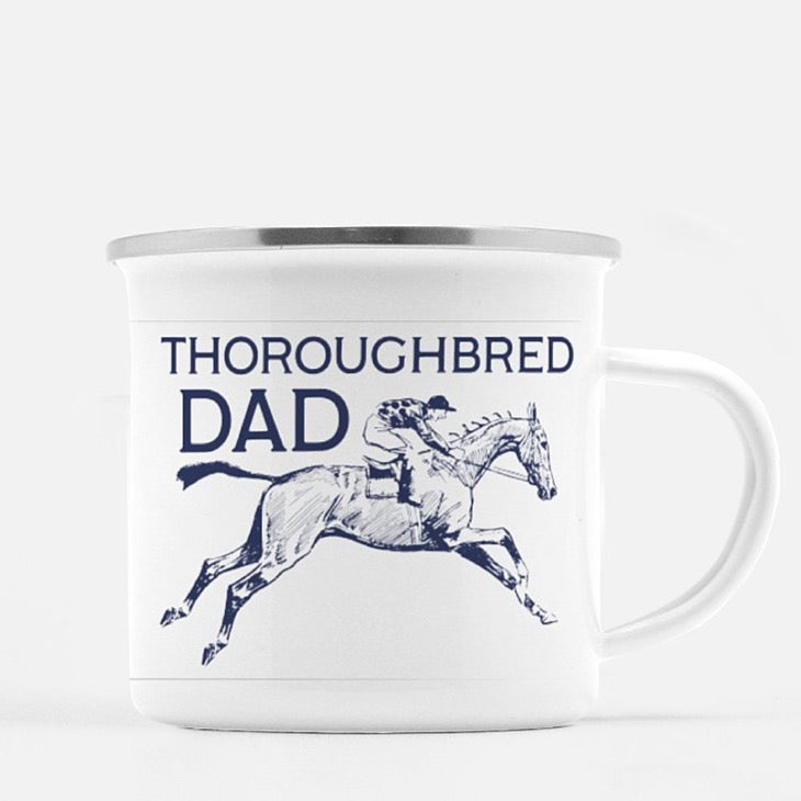 Thoroughbred Dad Mug - ONE HORSE THREADS