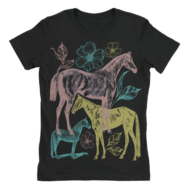 Flowers Everyday Tee - ONE HORSE THREADS