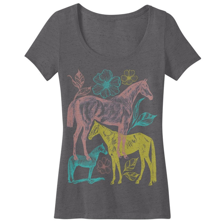 Flowers Scoop Tee - ONE HORSE THREADS