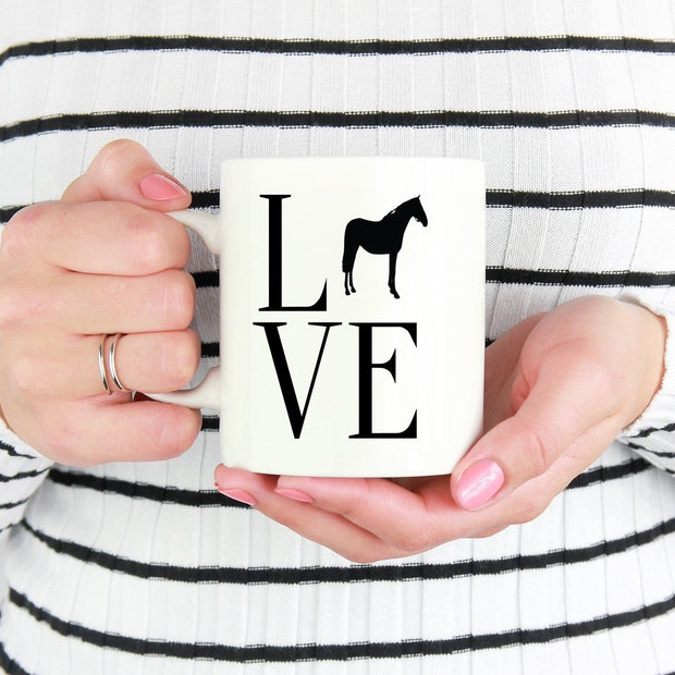 Love Horse Mug - ONE HORSE THREADS