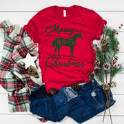Merry Christmas Short Sleeve T-shirt - ONE HORSE THREADS