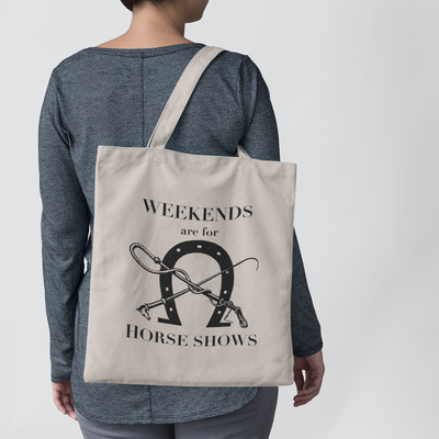 Horse Show Farmers Tote - ONE HORSE THREADS