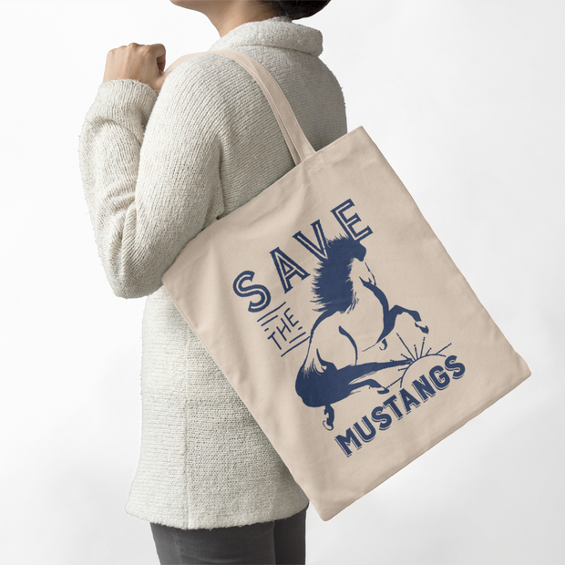 Mustang Farmers Tote - ONE HORSE THREADS