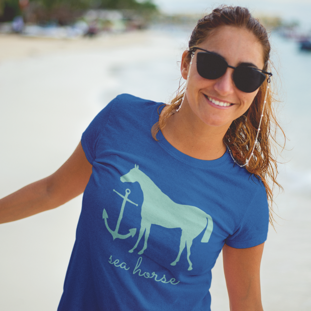 Sea Horse Everyday Tee - ONE HORSE THREADS