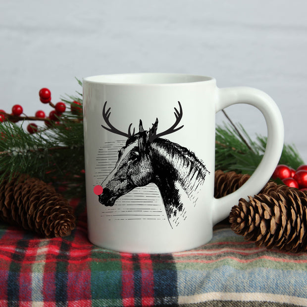 Reindeer Mug - ONE HORSE THREADS
