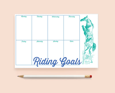 Riding Goals Notepad - ONE HORSE THREADS