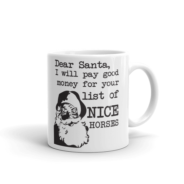 Santa Mug - ONE HORSE THREADS
