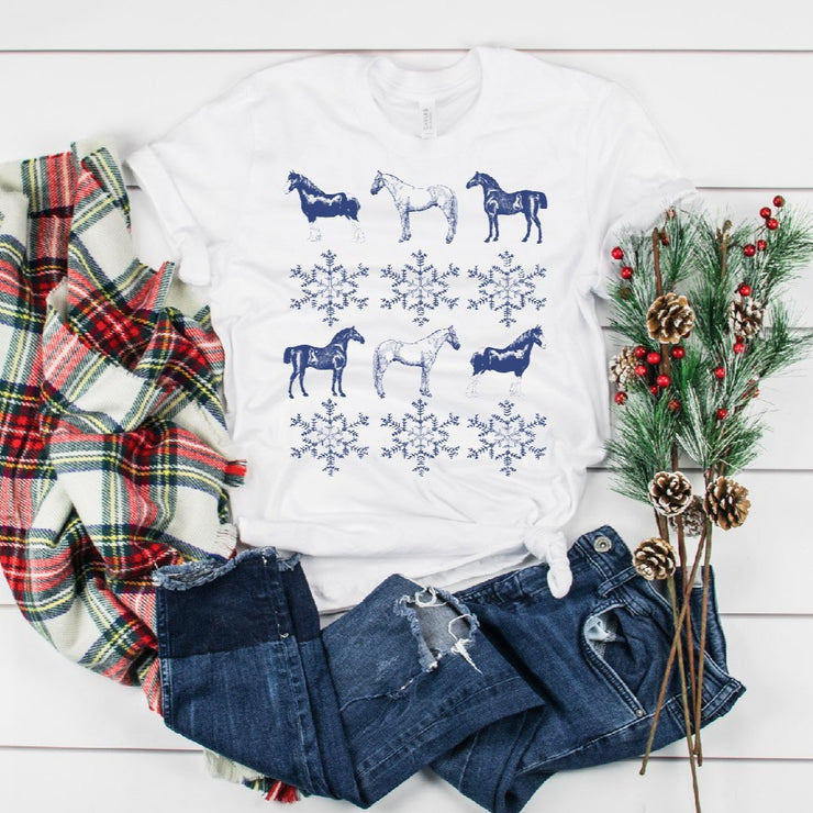 Snowflake Short Sleeve T-Shirt - ONE HORSE THREADS