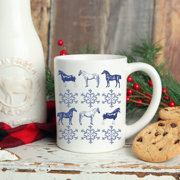 Snowflake Mug - ONE HORSE THREADS