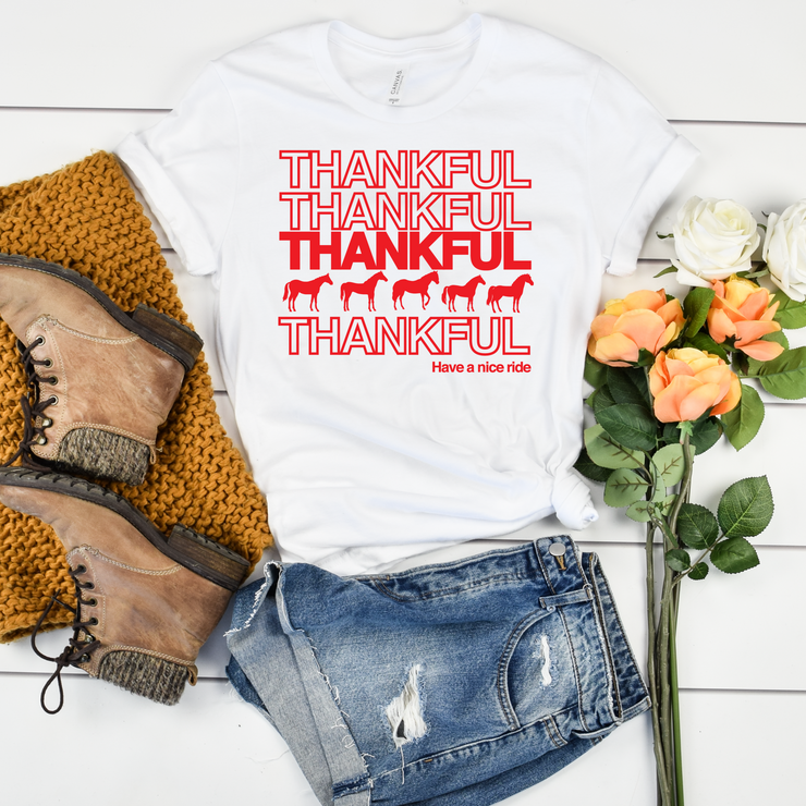 Thankful Short Sleeve T-Shirt - ONE HORSE THREADS