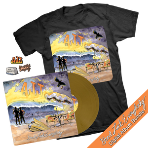 Good Luck Everybody Gold Vinyl, Shirt & Pin Set Bundle