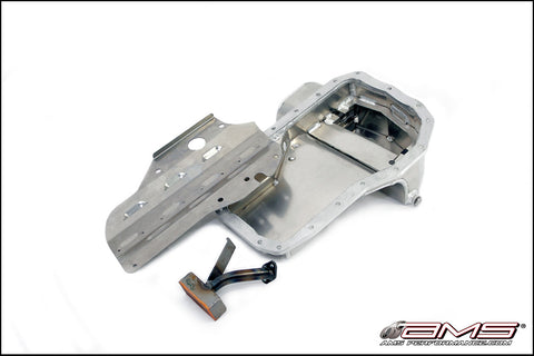 AMS Wet Sump Oil Pan EVO 4-9